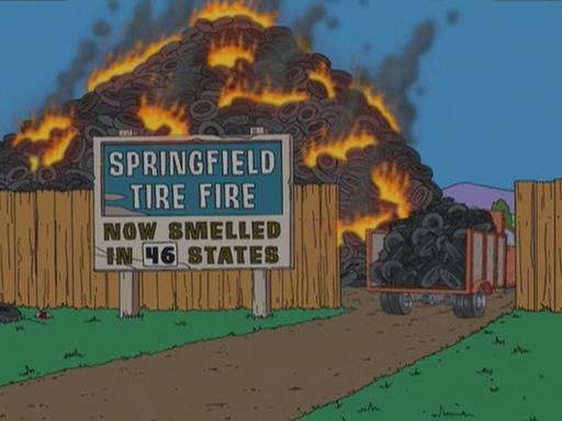 Simpsons - Springfield Tire Fire